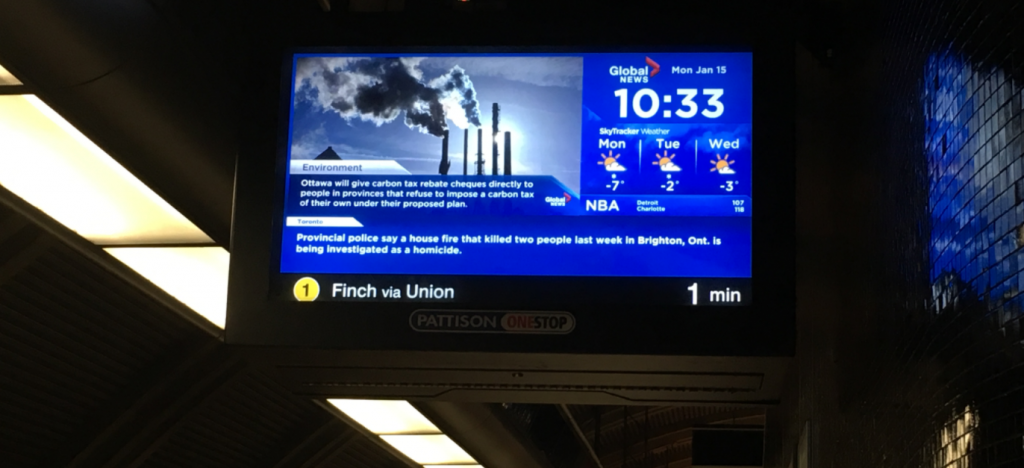 The TTC's new arrival time prediction ticker now includes the line number and final destination