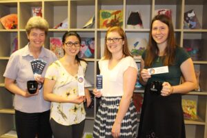 Lynne Howarth with her student Research Assistants Rossini Yue, Maeghan Jerry, and Emily Meikle (left to right)